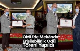 OMÜ'de Mekânda Erişilebilirlik Ödül Töreni Yapıldı