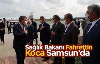 Sağlık Bakanı Fahrettin Koca Samsun'da