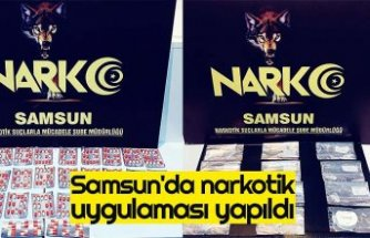 Samsun'da narkotik uygulaması yapıldı