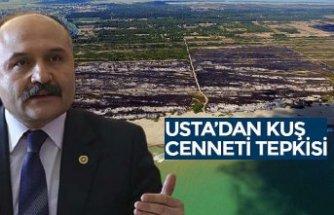 USTA'DAN KUŞ CENNETİ TEPKİSİ