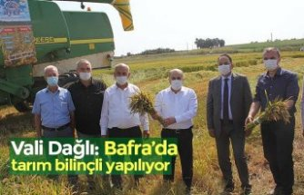 Vali Dağlı: Bafra'da tarım bilinçli yapılıyor