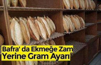 Bafra' da Ekmeğe Zam Yerine Gram Ayarı