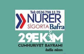Bafra Nurer Sigorta'dan 29 Ekim Mesajı