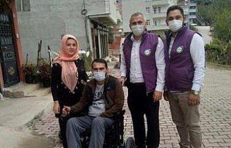 Ordu'da üç engelli gencin yüzü akülü araçla güldü