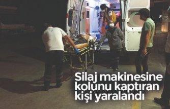 Silaj makinesine kolunu kaptıran kişi yaralandı