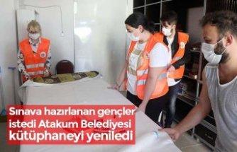 Sınava hazırlanan gençler istedi Atakum Belediyesi kütüphaneyi yeniledi