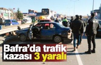 Bafra'da trafik kazası: 3 yaralı