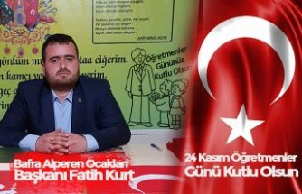 Başkan Fatih Kurt'tan öğretmenler günü mesajı