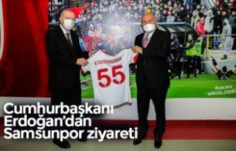 Cumhurbaşkanı Erdoğan'dan Samsunpor ziyareti
