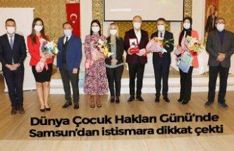 Dünya Çocuk Hakları Günü'nde Samsun'dan istismara dikkat çekti