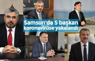 Samsun'da 5 başkan koronavirüse yakalandı
