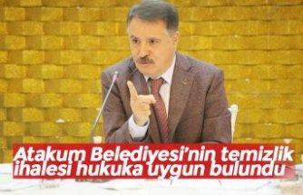 Atakum Belediyesi'nin temizlik ihalesi hukuka uygun bulundu
