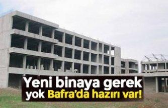 Yeni binaya gerek yok Bafra'da hazırı var!