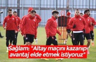 """Sağlam: """"Altay maçını kazanıp avantaj elde etmek istiyoruz"""""""