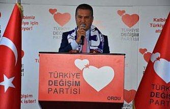 Türkiye Değişim Partisi Genel Başkanı Sarıgül, Ordu'da konuştu: