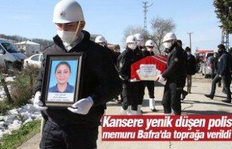 Kansere yenik düşen polis memuru Bafra'da toprağa verildi