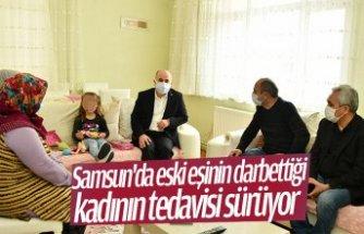 Samsun'da eski eşinin darbettiği kadının tedavisi sürüyor