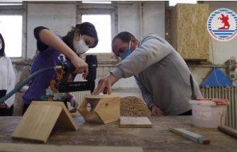 OMÜ Çevre Topluluğu Gerçekleştirdiği Projeyle Kuş Evleri Yaptı