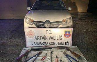 Artvin'de 13 hırsızlık zanlısı 214 saatlik güvenlik kamerası kaydı incelenerek yakalandı
