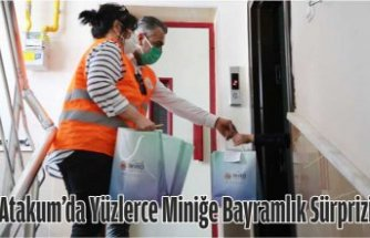 Atakum'da yüzlerce miniğe bayramlık sürprizi