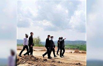 Kaymakam Saygılı'dan Kavak OSB'de inşaatı süren fabrikaya ziyaret
