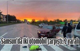 Samsun'da İki Otomobil Çarpıştı: 2 Yaralı