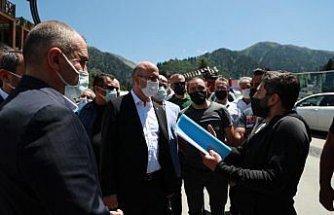AK Parti Genel Başkan Yardımcısı Ömer İleri, Ayder Yaylası'ndaki çalışmaları değerlendirdi: