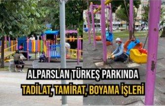 Alparslan Türkeş Parkında Tadilat, Tamirat, Boyama İşleri