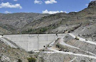 Gümüşhane'de Bahçecik Barajı'nın gövde yüksekliği yüzde 75'e ulaştı