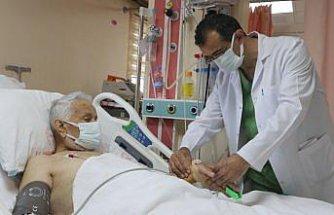 Rize'de 88 yaşındaki hasta
