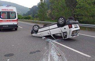 Bolu'da otomobil devrildi: 5 yaralı