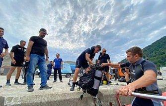 Kastamonu'da denizde kaybolan genci arama çalışmaları sürüyor