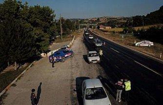 """Samsun'da jandarmadan """"drone""""lu trafik denetimi"""