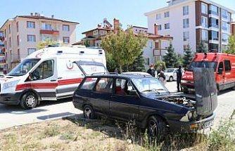 Bolu'da iki otomobil çarpıştı: 2 yaralı