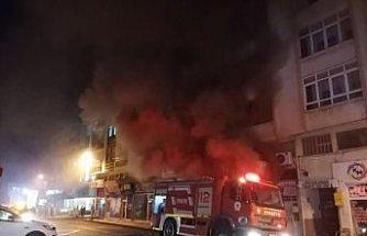 Çarşamba'da iş yerindeki yangın hasara neden oldu