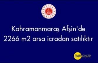 Kahramanmaraş Afşin'de 2266 m² arsa icradan satılıktır