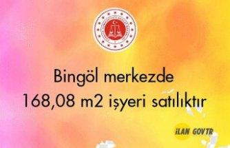Bingöl merkezde 168,08 m² işyeri icradan satılıktır