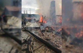Çorum'da iki ev yandı