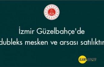 İzmir Güzelbahçe'de dubleks mesken ve arsası icradan satılıktır