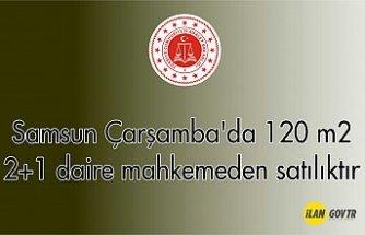 Samsun Çarşamba'da 120 m² 2+1 daire mahkemeden satılıktır