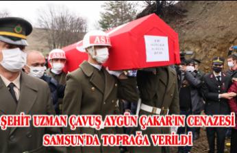 ŞEHİT UZMAN ÇAVUŞ AYGÜN ÇAKAR'IN CENAZESİ SAMSUN'DA TOPRAĞA VERİLDİ