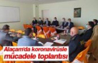 Alaçam'da koronavirüsle mücadele toplantısı