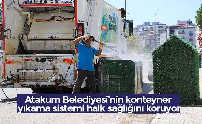 Atakum Belediyesi'nin konteyner yıkama sistemi halk sağlığını koruyor