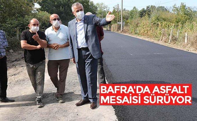 BAFRA'DA ASFALT MESAİSİ SÜRÜYOR