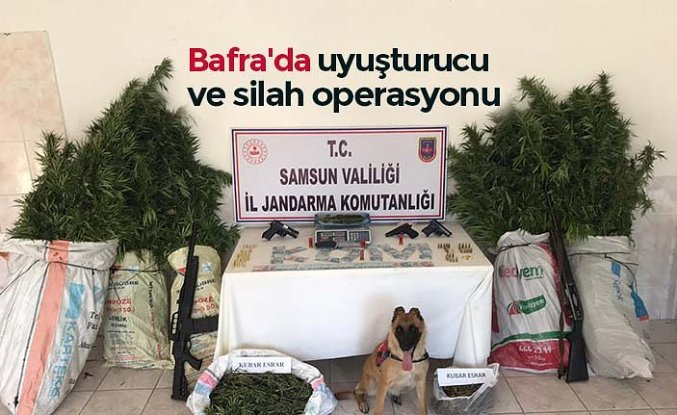 Bafra'da uyuşturucu ve silah operasyonu