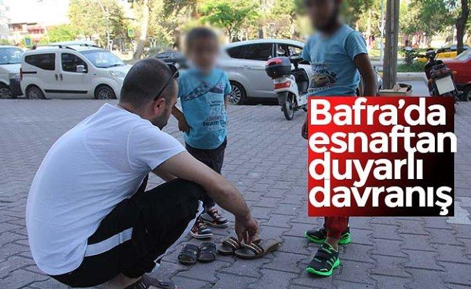Bafra'da esnaftan duyarlı davranış
