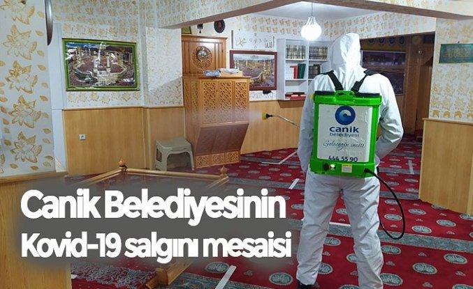 Canik Belediyesinin Kovid-19 salgını mesaisi