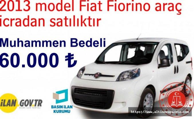 2013 model Fiat Fiorino araç icradan satılıktır