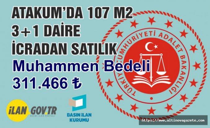 Atakum'da 107 m2 3+1 daire icradan satılık