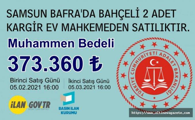 Bafra'da bahçeli 2 adet ev satılıktır.